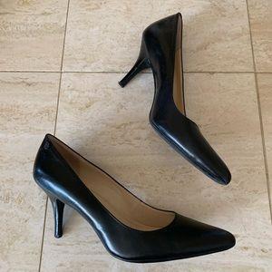 Calvin Klein Ashley black leather pumps size 8